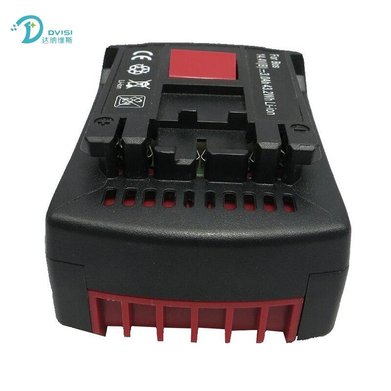 New 14.4V 4.0Ah Lithium Ion Replacement Rechargeable Power Tool Battery for Bosch BAT607 BAT607G BAT614 BAT614G 2 607 336 318 new 14 4v 3 0ah lithium ion replacement rechargeable power tool battery for bosch bat607 bat607g bat614 bat614g 2 607 336 318