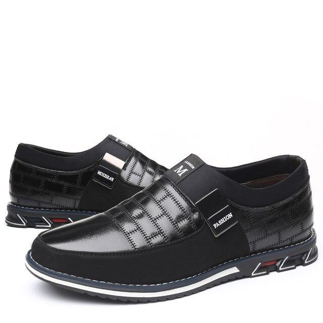 2019 г. Новые мужские кожаные туфли-оксфорды больших размеров 38-48 модные повседневные модельные туфли без застежки для формальных и деловых в... 3