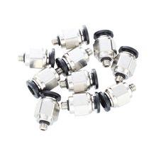 HHTL-10 шт. 5 мм Наружная резьба 6 мм втулка в стык пневматический соединитель Быстрые фитинги