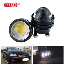 GEETANS 1 pair 15W 12V Super Bright LED Light Eagle Eye Daytime Running Light DRL Lights Waterproof Parking DC12V For Audi DE