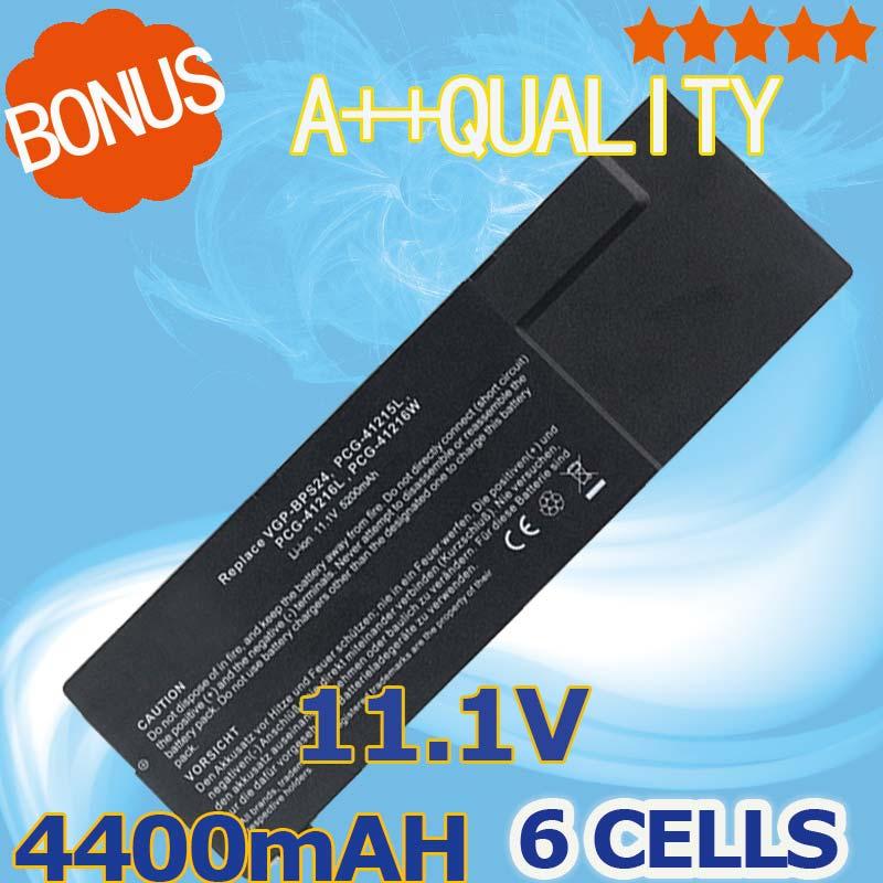 4400mAh Battery For SONY VGP-BPL24 VGP-BPS24 VAIO SVS13 SVS13115 SVS13117 SVS13118 SVS13119 SVS13123 SVS13125 SVS13126