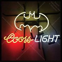 NEON SIGN For Coors Light Bat NEON Lamp GLASS Tube Affiche Decor club Shop Window Handcraft Publicidad anuncio luminoso Dropship
