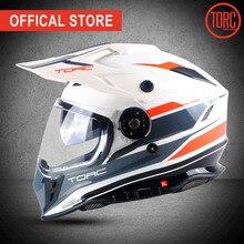 цены TORC New motorbike full face motorcycle helmet Casco Dual lense motorcross off road helmet Gearracing Fashion Professional T331