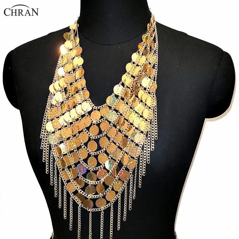 gold chain bra Gold body jewelery,crystal bralette halter top