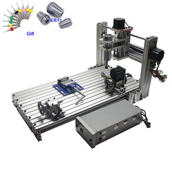 CNC Router Woodworking Machine 3axis 4 axis CNC 6030 Engraving Cutting Machine 400W USB port Support Win 8 Win 10