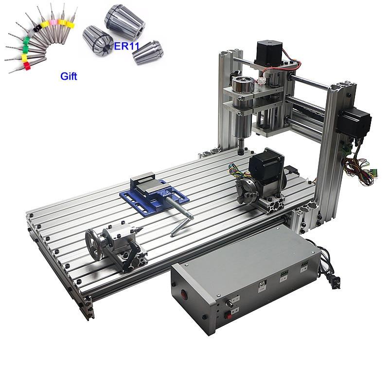 CNC menuiserie à routeur 3 axe 4 axe CNC 6030 Gravure Machine De Découpe 400 W port usb Soutien Win 8 Gagner 10