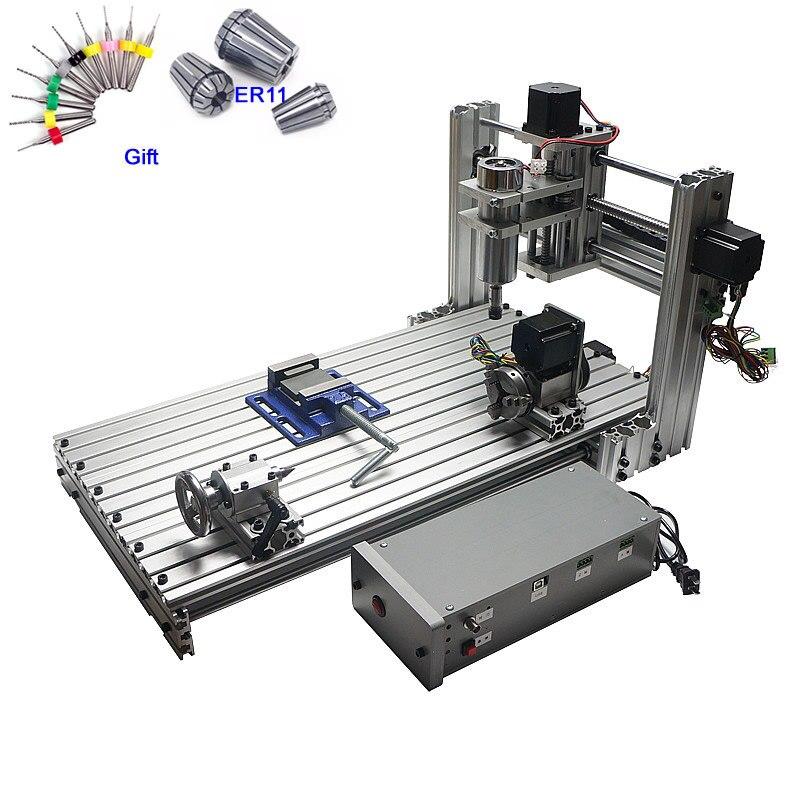 Máquina do Woodworking CNC Router eixo 3 4 eixo CNC 6030 Gravura Máquina De Corte 400 W porta USB Suporte Win 8 ganhar 10