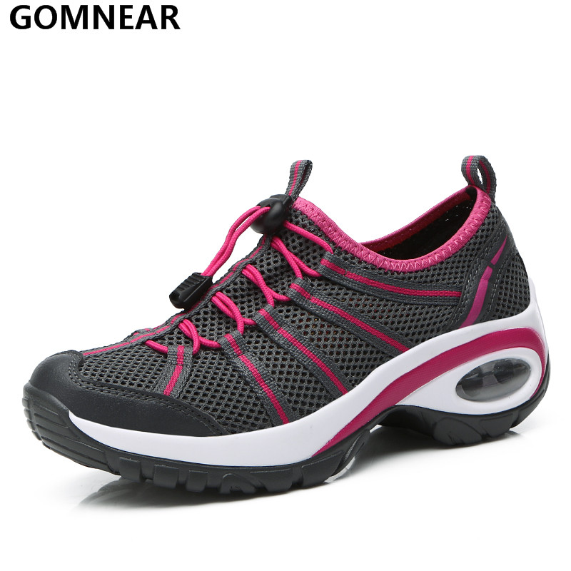 GOMNEAR Light Sport Running Shoes for Women's Outdoor Breatahable Training Sneakers Jogging Athletic Shoe Women Tourism Trainers adidas women s shoes running shoes training shoes sneakers free shipping