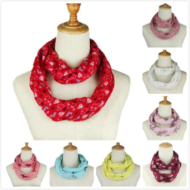 New Fashion Women infinity scarf Ring Scarf Floral printed Bronzing Loop Neckerchief Echarpe Foulard Summer Autumn spring
