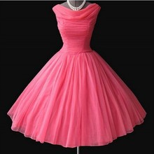 ILoveWedding коктейльные платья трапециевидной формы, формальные розовые красные тюлевые платья без рукавов, плиссированные платья на молнии длиной до колена, вечерние платья для выпускного вечера