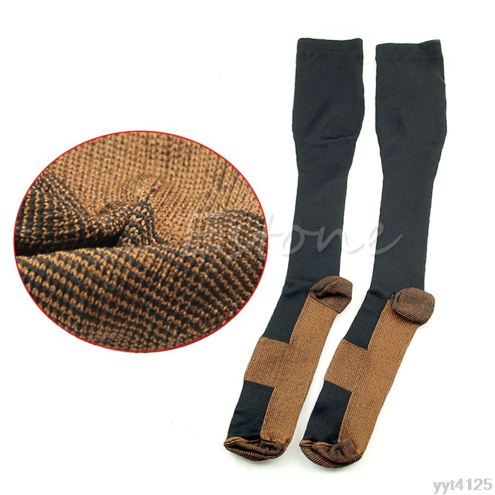 1Pair Women Slim Leg Sleep Compression Socks Varicose Veins Thigh ...