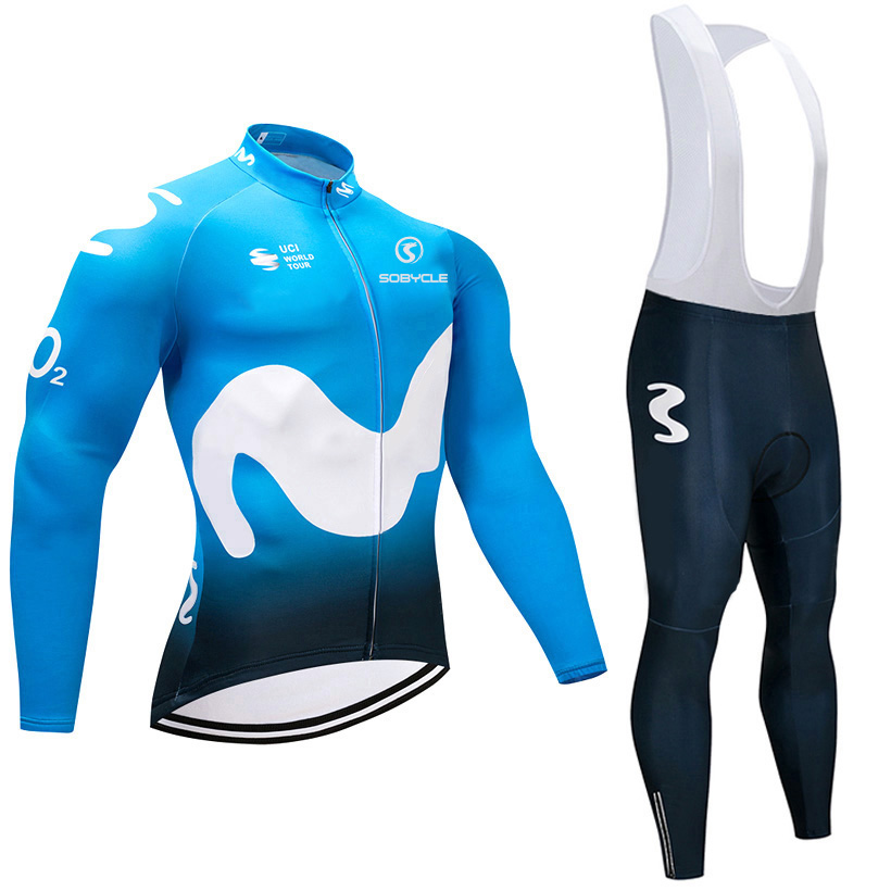 2018 winter season pro cycling jersey Blue M 9D gel pad bike pants set MTB Ropa Ciclismo Thermal fleece bicycling Maillot wear 2018 pink ef team long sleeve cycling jersey 9d gel pad bike pants suit mtb ropa ciclismo pro bicycling maillot culotte wear