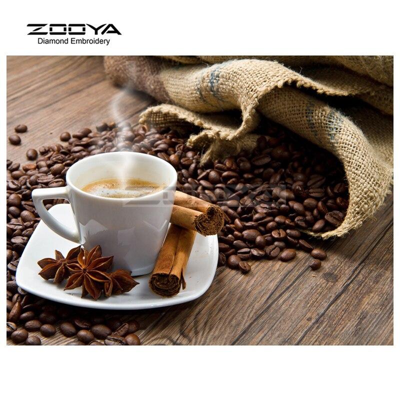 Nový příjezd Kávový šálek DIY Řemeslné vyšívání Kolekce Řemeslné Stitch Rhinestone Stick Mozaikové Řemesla Malba BJ343
