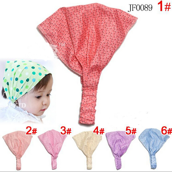 Lovely Cute Sweet Floral Flower Prints Baby Kids Girls Headband Hair Band Cotton A019