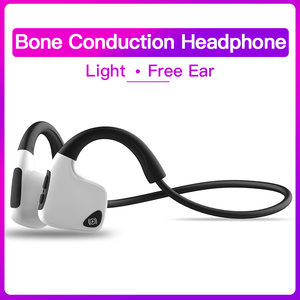 Image 1 - Bluetooth 5.0 R9 casque sans fil Conduction osseuse écouteur Sport de plein air casque avec Microphone mains libres casques