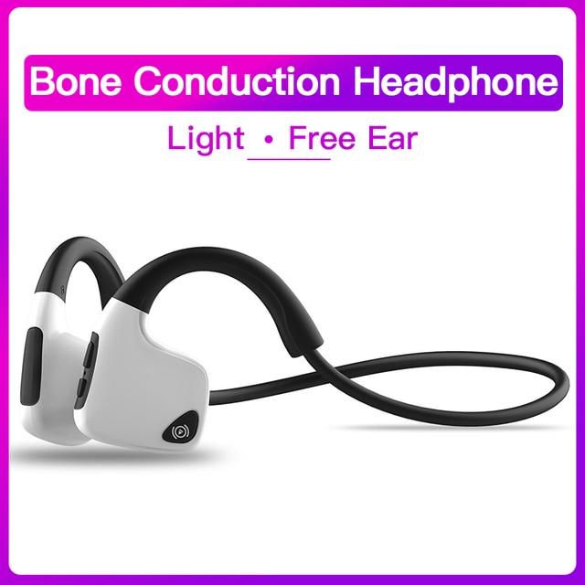 Bluetooth 5.0 R9 casque sans fil Conduction osseuse écouteur Sport de plein air casque avec Microphone mains libres casques