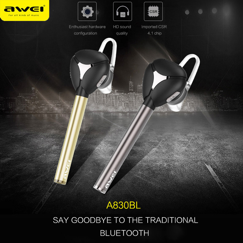 Original Awei A830BL Bluetooth earphone Wireless Headset Car Kit handsfree for calls and music CVC 6.0 Noise Cancelling камера заднего вида avis заднего вида avs312cpr 087 для avensis corolla e12 01 06