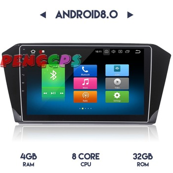 2 din Android 8.0 7.1 Car Radio Stereo Headunit GPS for Volkswagen VW Passat 2015 2016 2017 2018 Car DVD Player Audio Satnav image