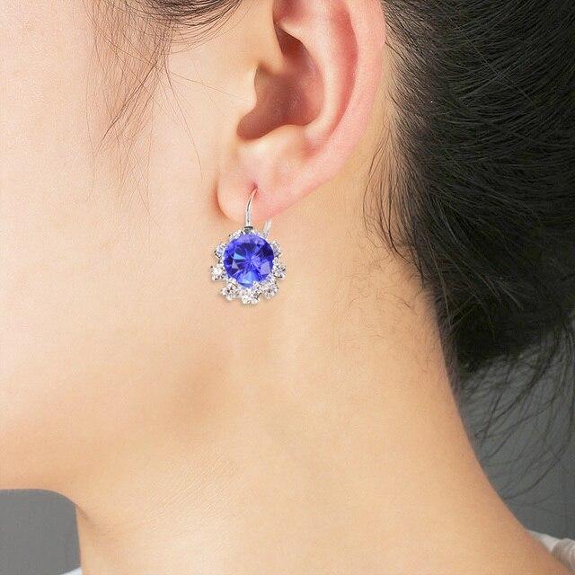 Brincos de zircônia 1 par moda nova alergia livre brinco 6 cores requintado cristal grande gem strass jóias femininas únicas 3
