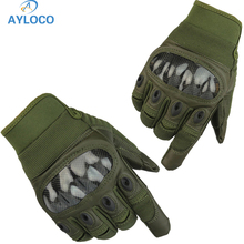Military Tactical Gloves Outdoor Sports Hunting Hiking Abrasion Climbing Full Finger Men