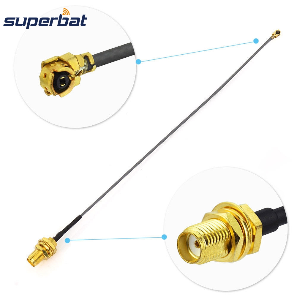 Superbat U.FL/IPX to SMA Jack Female Bulkhead Pigtail Cable Flexible 1.37 5cm for Ham Radio Digital TV <font><b>GSM</b></font> <font><b>3G</b></font> <font><b>4G</b></font> <font><b>LTE</b></font> GPS Antenna image