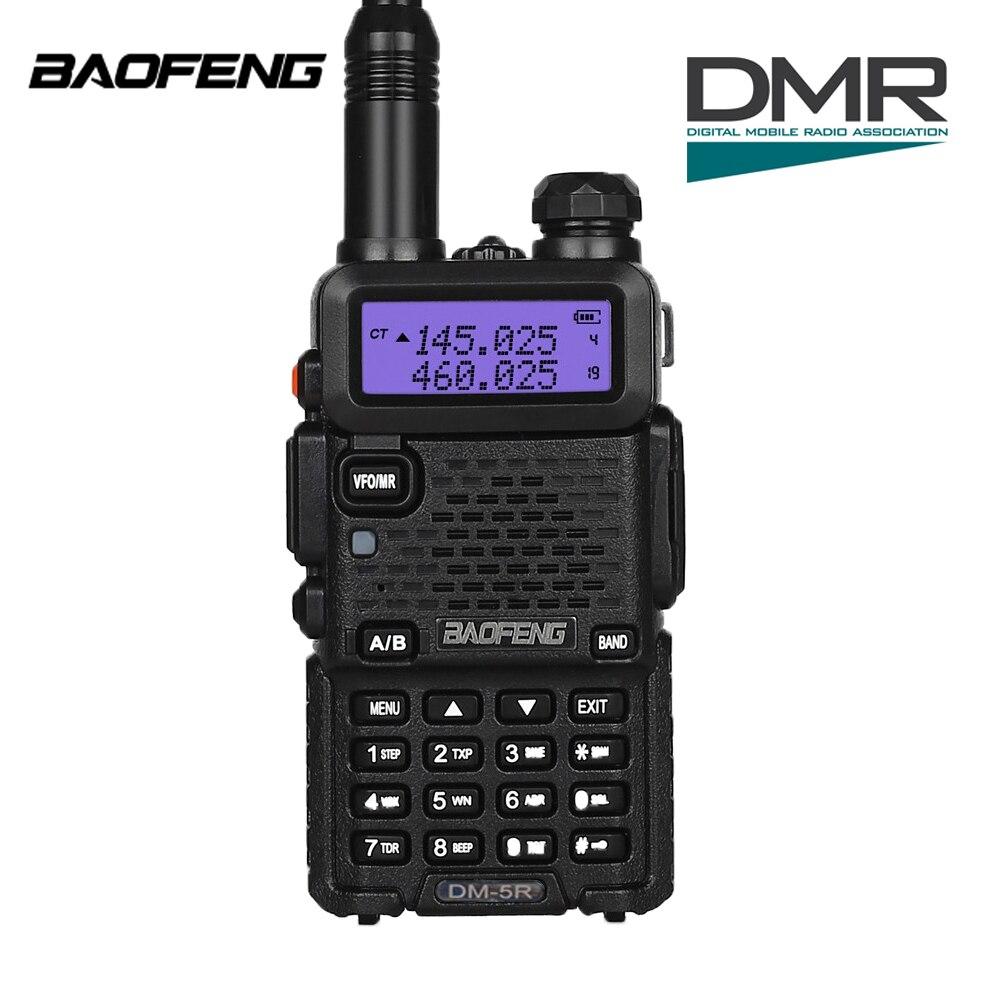 imágenes para Dm-5r Baofeng dual band transceptor dmr radio walkie taklie digitale 1 w 5 w vhf uhf 136-174/400-520 mhz radio bidirezionale 200