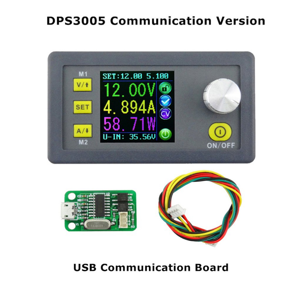 DPS3005 Voltage Converter LCD Voltmeter Communication Function Constant Voltage Current Step-down Adjustable DC Power Supply 30pcs lot by dhl or fedex dps3005 communication function step down buck voltage converter lcd voltmeter 40