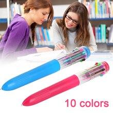Роликовая Шариковая ручка Шариковая 10 цветов случайный канцелярский инструмент для письма детский подарок Креативный офисный маркер, рисование желфена школы