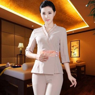 Beauty salon health care shop work clothes Thai massage technician uniform large size SPA clothes in Nurse Uniform from Novelty Special Use