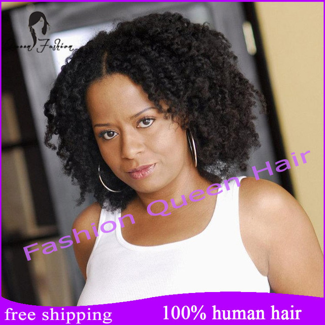 Kelly Rowland Short Human Hair Wigs For African Americans Afro Kinky