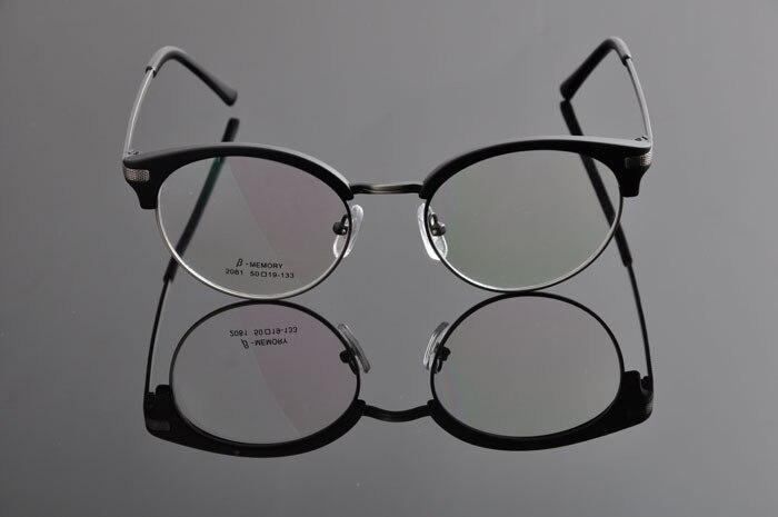 DEDING винтажные очки ретро Женская оправа с линзами при миопии Мужские Рецептурные очки оправа модные очки DD0886 - Цвет оправы: matt black gray