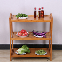 Hot Pot Restaurant Dish Rack Shelf Kitchen Multi layer Home Floor Solid Wood Dining Cart Cart Hotel Vegetable Rack Multifunction