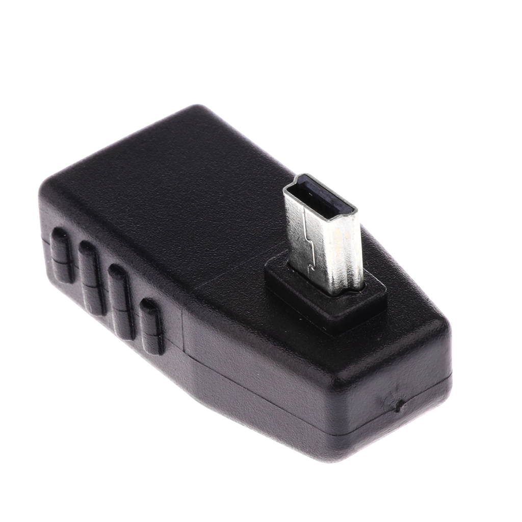 Micro USB Cable Male Host to USB Female OTG Left Angle Adapter for Phone