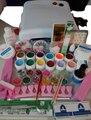Profesional Full Set mix 12 color UV Gel Kit de Cepillo imprimación kit Nail Art Set + 36 W Que Cura La Lámpara ULTRAVIOLETA Del Secador Curining
