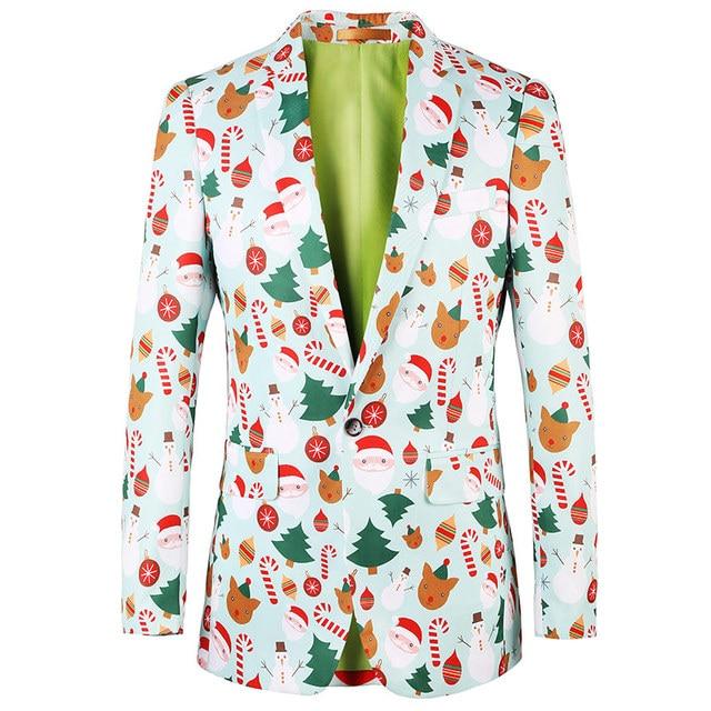 2018 Christmas designer Men Clothing Luxury Designer Mens Blazer print Jacket Stylish Fancy Brand floral Males Suits Blazers