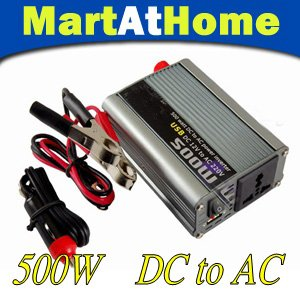 FREE SHIPPING 500 watts 24V DC to 220V AC Car Mobile Power Inverter Modified-sine Wave with USB Port #10186 @CF
