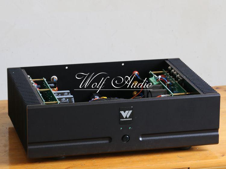 2018 Finished D5 Dual Channel HIFI Power Amplifier Based on darTZeel Audio Amplifier Circuit name machine b 108 circuit no big loop negative feedback pure post amplifier hifi fever grade high power 12 tubes