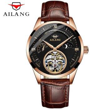 AILANG 2018 Business Watch Men Automatic Luminous Clock men Tourbillon Waterproof Mechanical Watch Top Brand relogio masculino