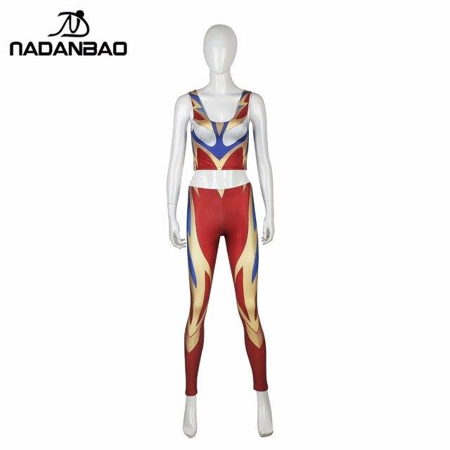 NADANBAO 2017 New Woman Leggings  Superman Legging  3D Print Leggins For Woman Fitness Mujer Leggin Set