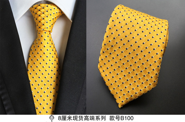 100% Silk Plaid Ties Gifts for Men 3