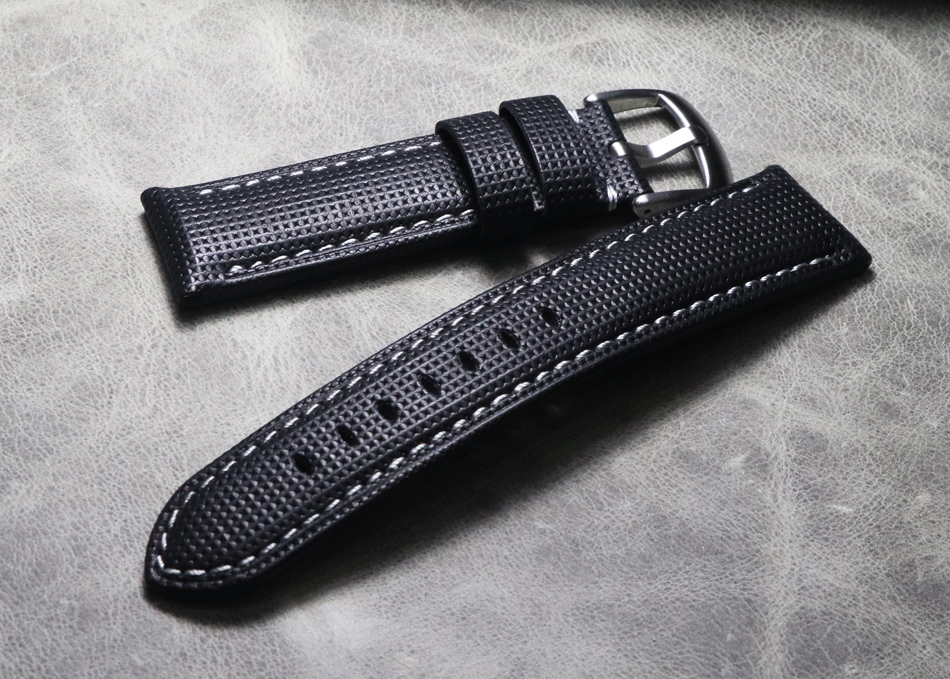20 21 22 24 26mm high quality thick Genuine Leather Watch Straps Handmade Watch Bands Black Watchband for Hamilton Mido Panerai(China)