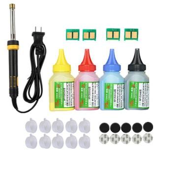 Refill toner Pulver patrone tool kit + 4 chip für HP CB540A-CB543A 125A LaserJet CP1215 CP1515n CP1518ni CM1312 drucker