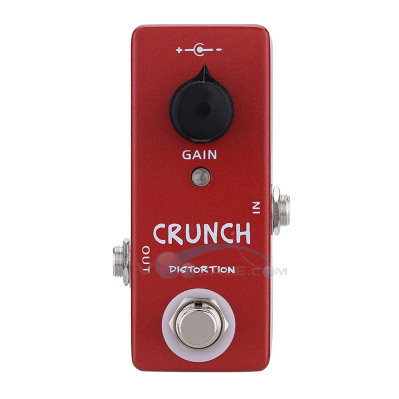 Mosky Crunch Distortion Guitar Effect Pedal Mini Single Knob Control with True Bypass  Switching Power Consumption aroma ac stage acoustic guitar simulator effect pedal aas 3 high sensitive durable top knob volume knob true bypass metal shell