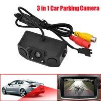 3 em 1 Câmera de Visão Traseira Do Carro Sensor de Estacionamento com 2 Indicador de Alarme buzzer sensores de Radar Do Reverso Do Carro câmera do carro Sistema de Assistência