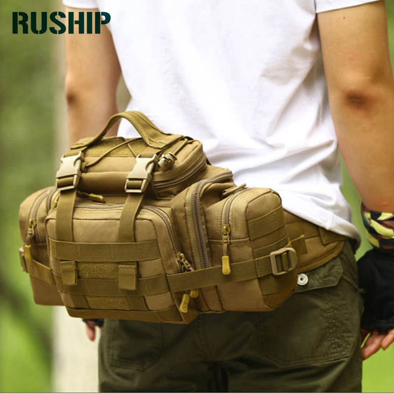 Super BIG Brand Waist Pack Pockets Waterproof Molle Military Tactical Gear Waist Pack Leisure Bag Camouflage
