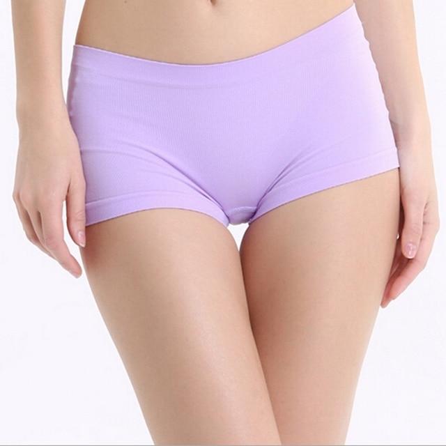 Women Sexy Underpants Nylon Panties Female Sport Boyshort