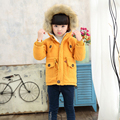 2016 Girls Parkas Coat Jacket Winter Outerwear With Fur Collar Thickening Kids Clothes Warm Parka Hooded Cotton Overcoat