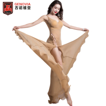 New arrival women Sexy Women Belly dance wear stage performance Long dress Ladies Party Salsa Ballroom Stage
