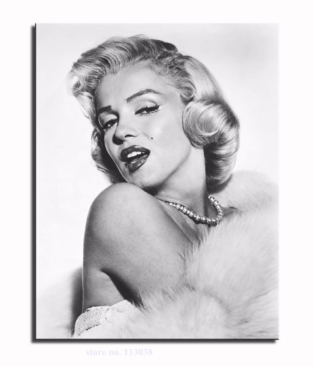 New High Quality 1 Piece Living Room Bedroom Modern Home Art Decoration Sexy Marilyn Monroe Canvas Painting Unframed