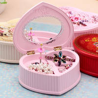 Dancing Mirror Ballerina Music Jewelry Box Mechanical Musical Box Girls Rotate Electronic Music Box Mechanism Gift